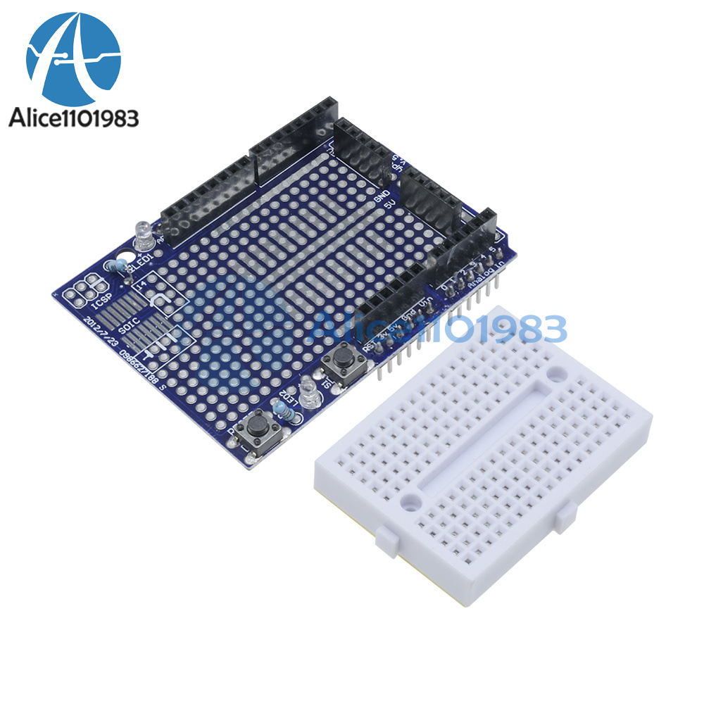 5PCS Arduino Prototyping Prototype Shield ProtoShield With Mini Breadboard
