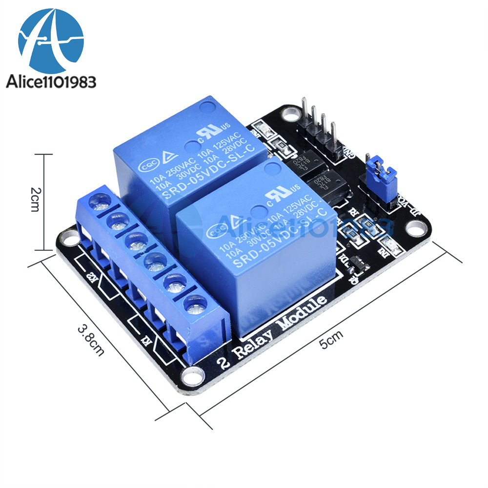 1//2//5//10Stk 5V 2 Channel Relay Board Module Optocoupler LED for Arduino PiC ARM