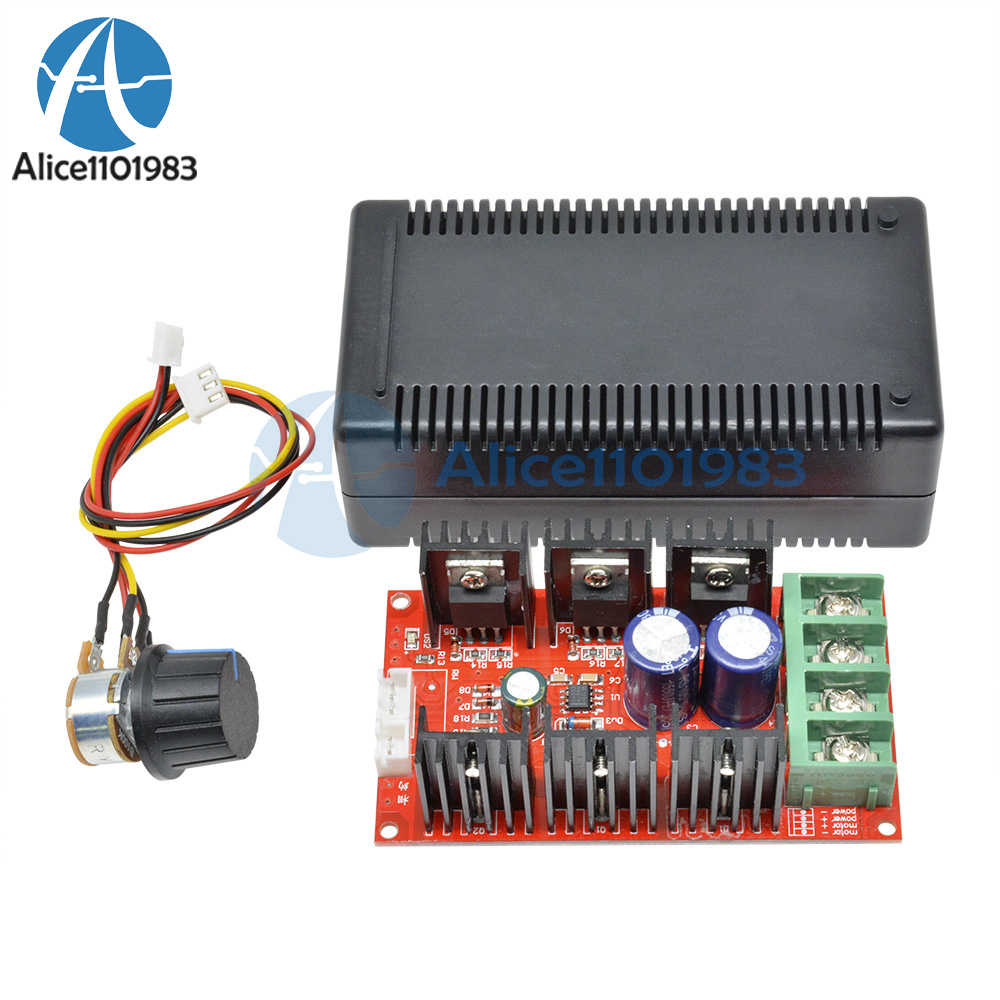 MAX 10-50V 2000W 40A 12V 24V 48V DC Motor Speed Control PWM HHO RC Controller CA