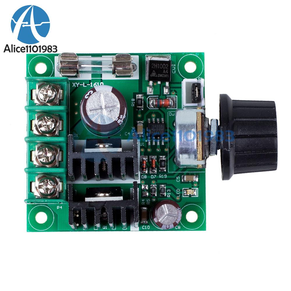 12V~40V 10A PWM DC Motor Speed Control Switch Controller Volt Regulator Dimmer