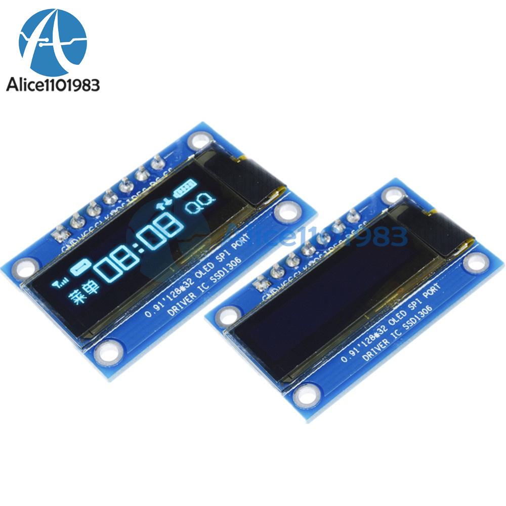 0.96inch OLED Display Module I2C Self-Illumination IIC Serial Interface Display Controller SSD1306 3.3V-5V DC Blue
