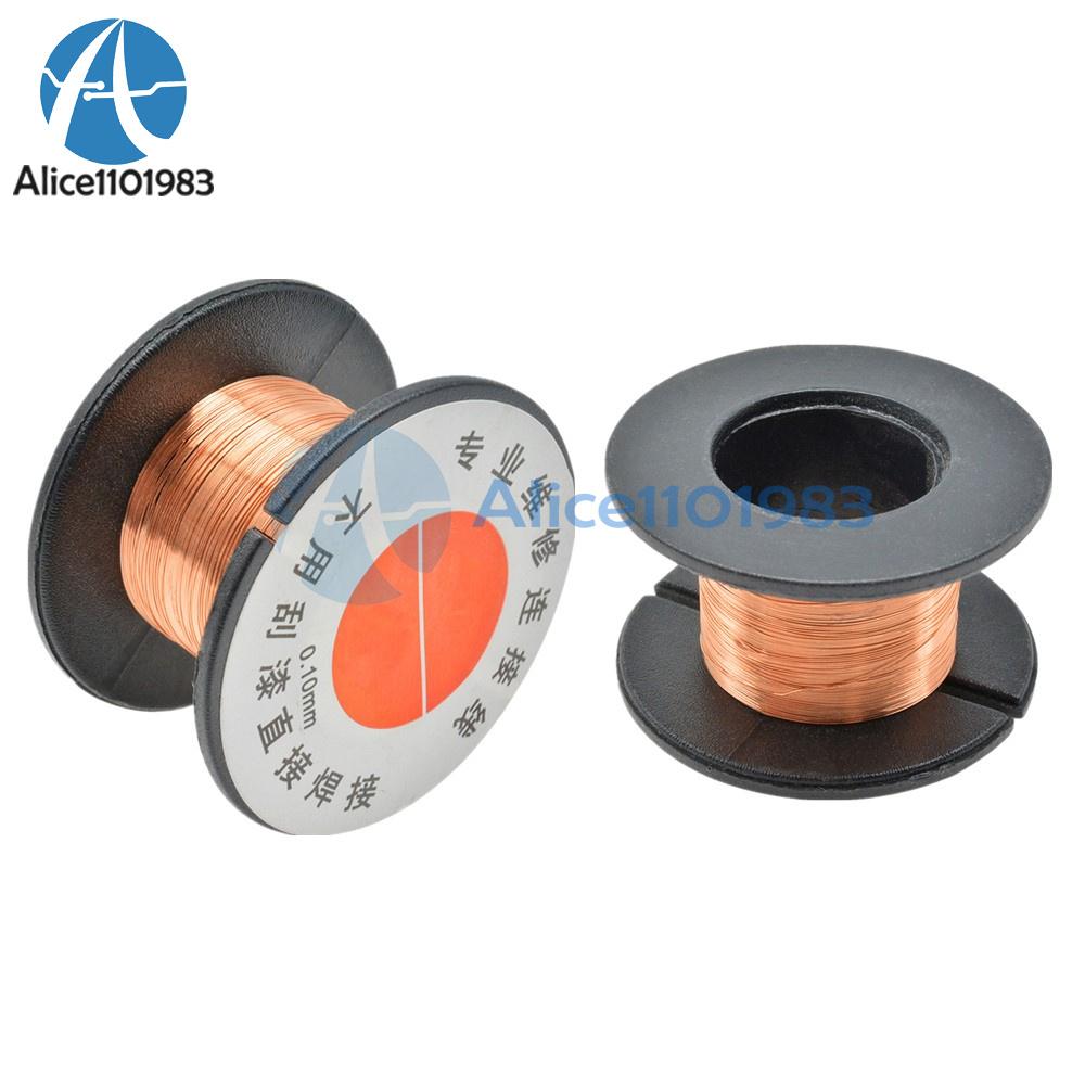2pcs Fly Line Maintenance Welding Line Copper Solder Cable Wire 0.1mm