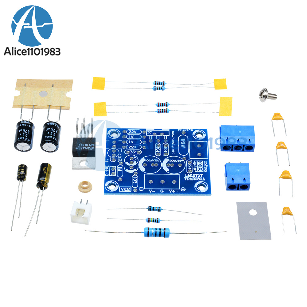 20w Hifi Mono Channel Lm1875t Stereo Audio Amplifier Board Module Circuit Lm1875 Diy Kit