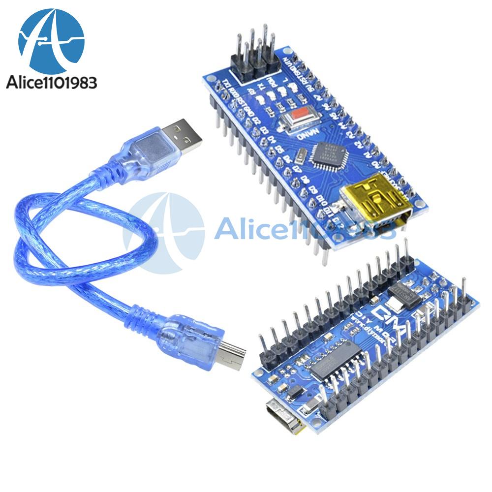 5PCS CH340G USB Nano V3.0 ATmega328P 5V 16M Micro-Controller Board Arduino+Cable