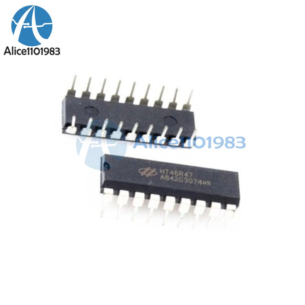 2pcs HT46R47 DIP Integrated Circuit