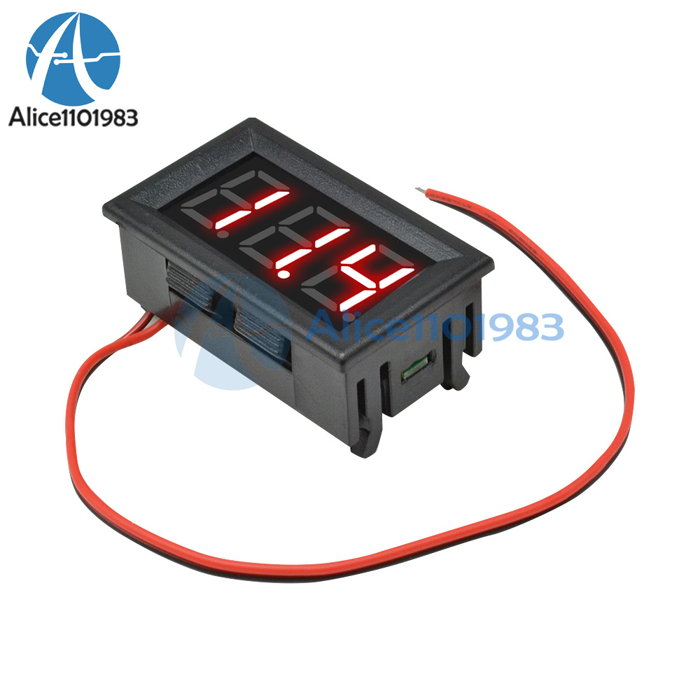 0 56 Led Red 2 Wire Voltmeter Digital Voltage Ac70 500v Panel Volt Ammeter Meter Ebay