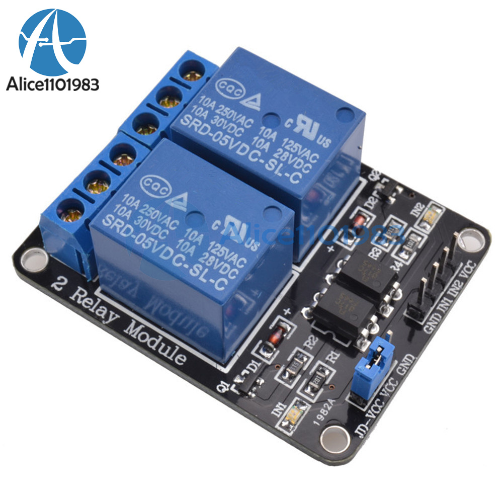 5v Two 2 Channel Relay Module With Optocoupler For Pic Avr Dsp Arm Arduino Wiring This