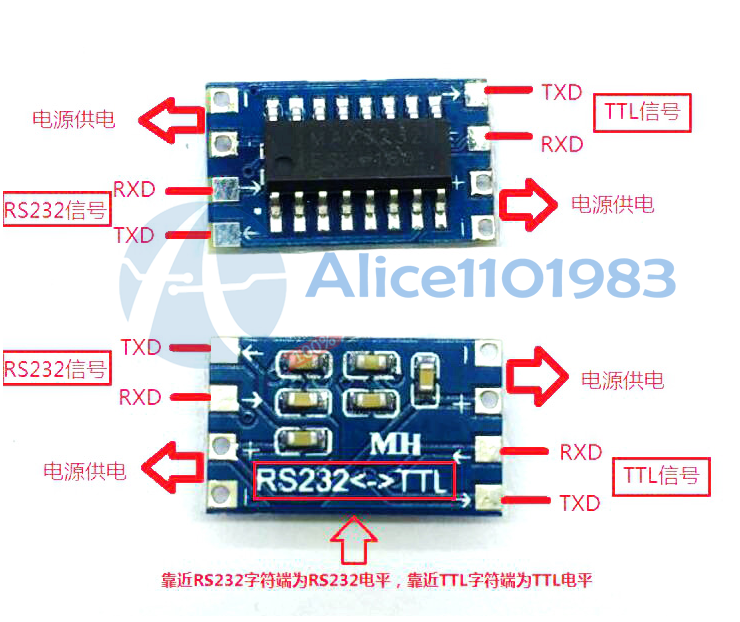 1pcs Mini RS232 To TTL MAX3232 Converter Adaptor Module Serial Port Board