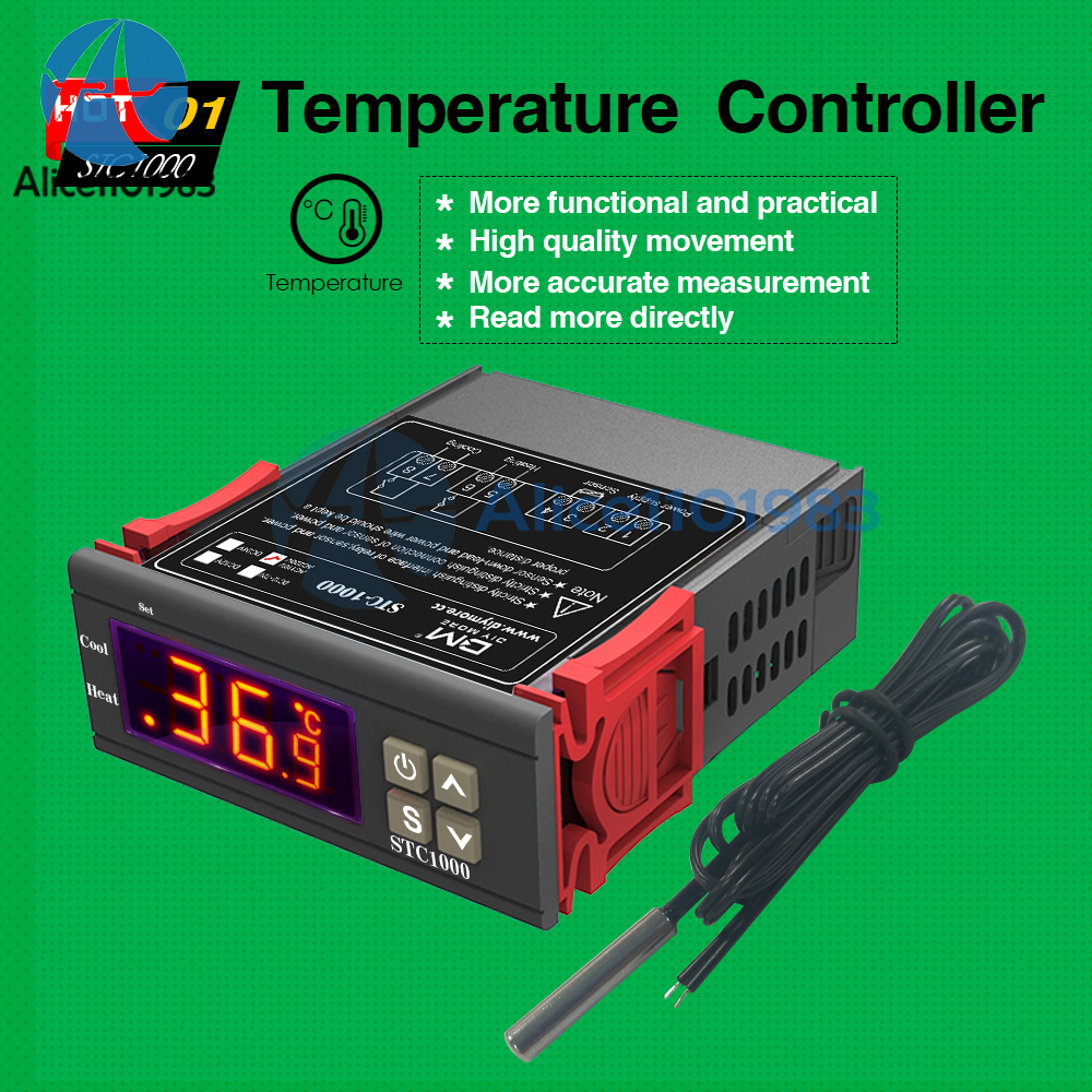 Hot STC-1000 All Purpose Temperature Controller Thermostat With Sensor 110V-220V
