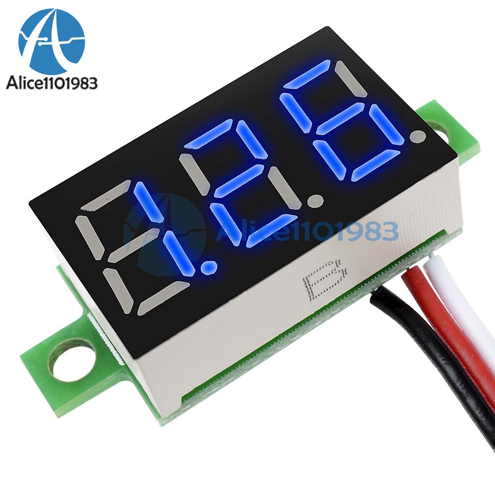5pcs Red 0.36 Inch DC 0-30V 3 Wire LED Voltmeter Digital Display Panel Volt Mete