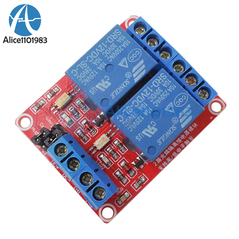 Details about 2-Channel 12V Relay Module Optocoupler High and Low Level  Trigger for Arduino