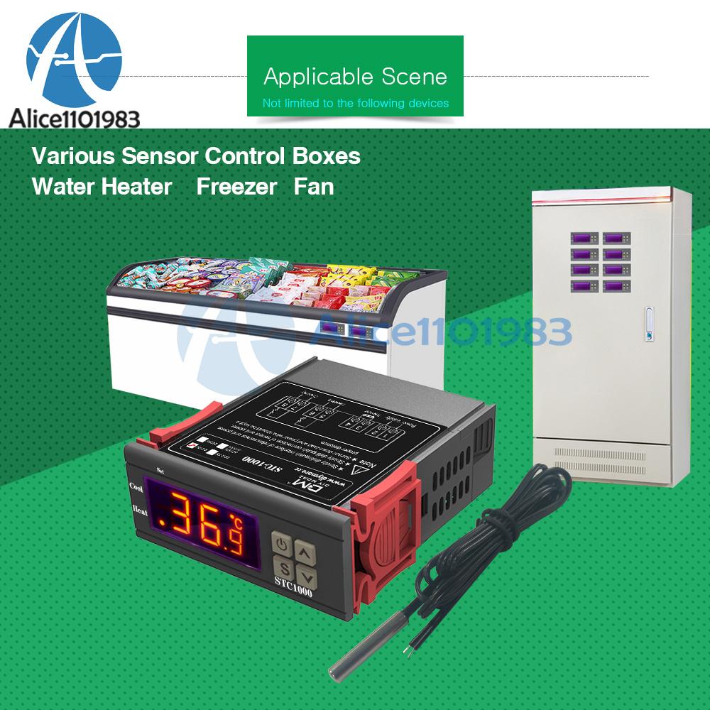 All-Purpose STC-1000 Digital Temperature Control//Controller Sensor 12V AC
