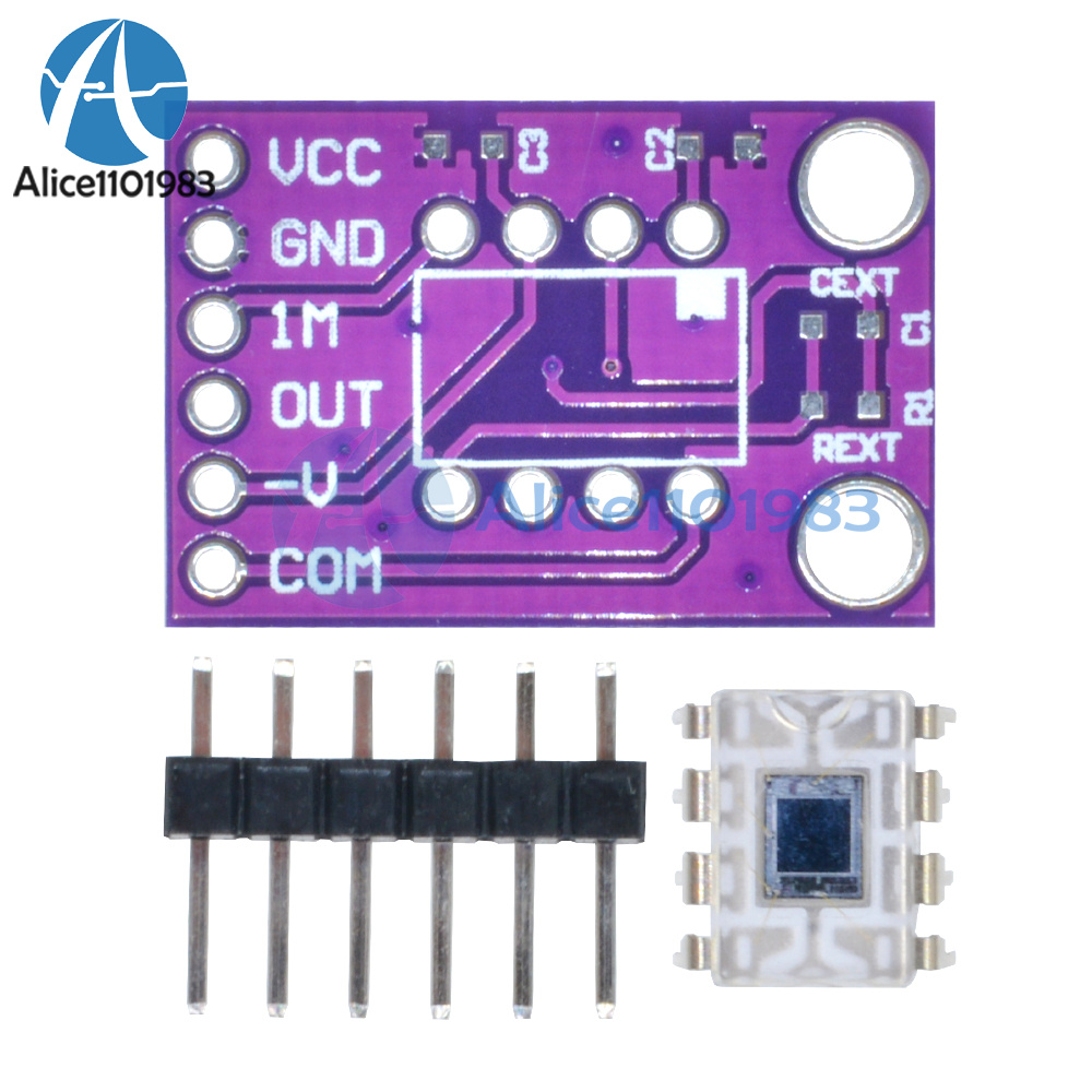 Opt101 Analog Light Sensor Intensity Module Monolithic Transimpedance Circuit The Component Values For This Is A Photodiode With On Chip Amplifierthe Ingrated Combination Of And Amplifier Single