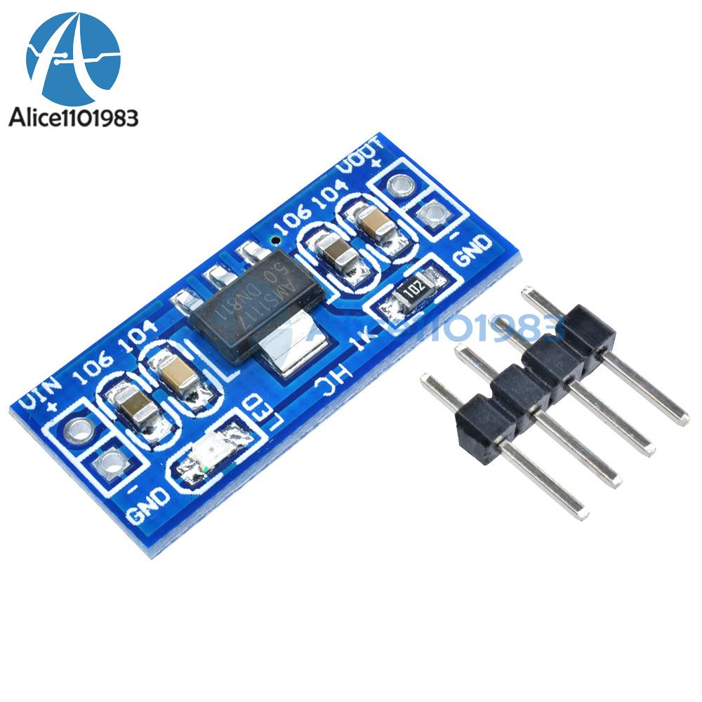 5pcs 6.0V-12V to 5V AMS1117-5.0V Power Supply Module AMS1117-5.0 TOP