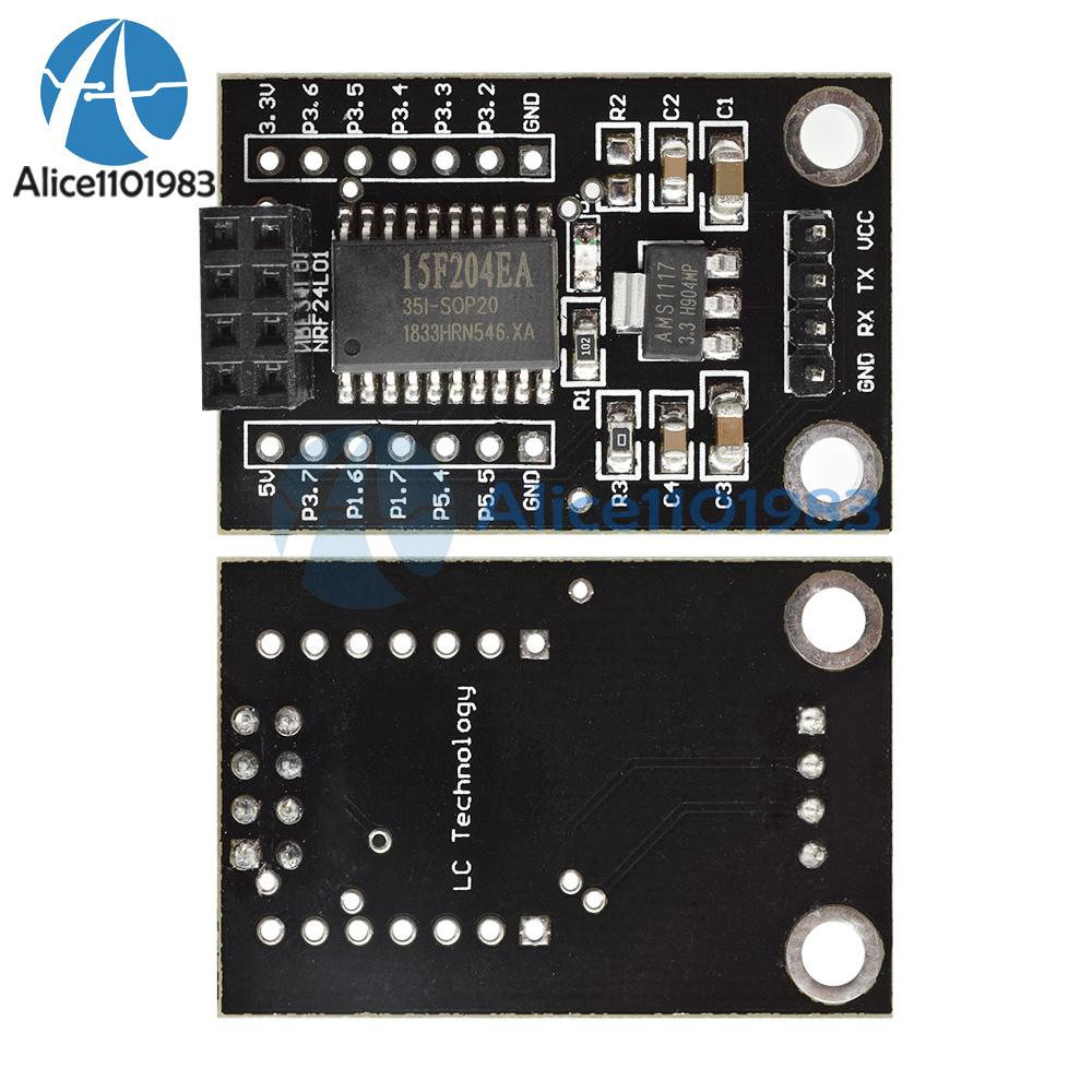 interface Wireless driver Board new 2PCS STC15F204 NRF24L01