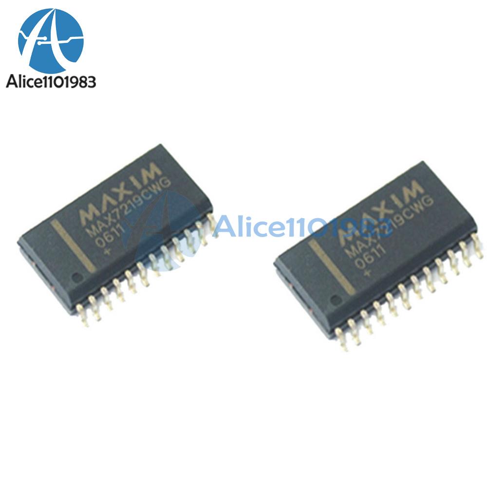 Maxim 10PCS MAX7219 MAX7219CWG SOP-24 LED Display Driver Ic 8DIG 24 Soic