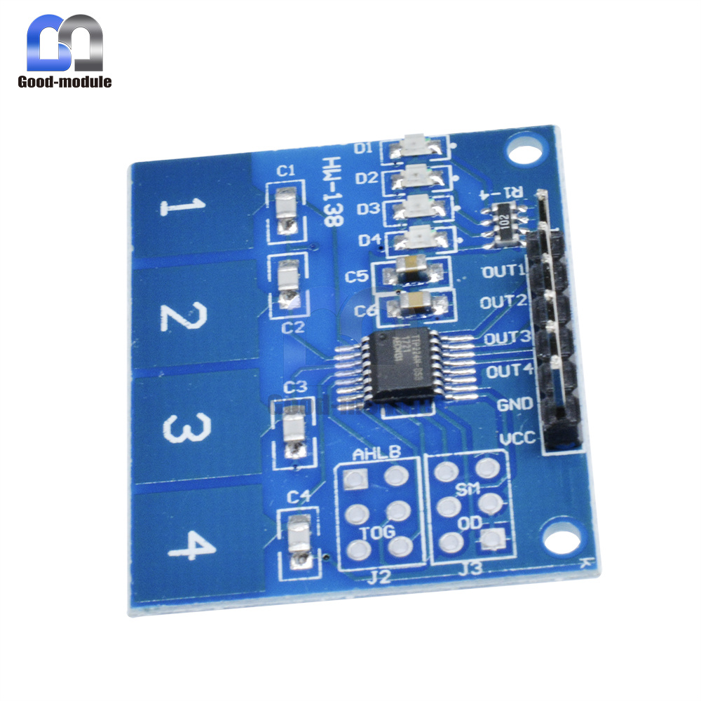Ttp224 4 Channel Digital Touch Sensor Module Capacitive Switch Circuits Way Arduino