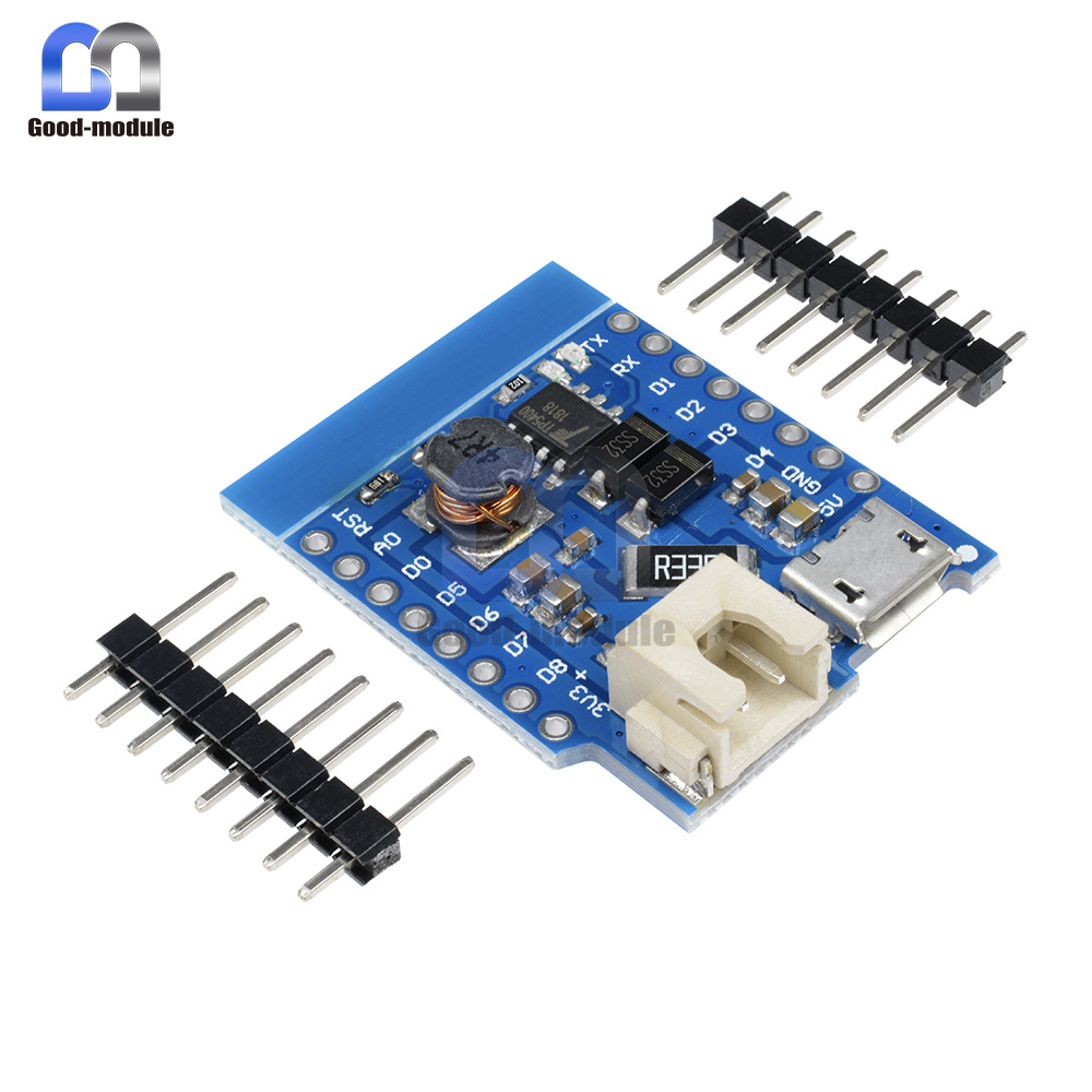 D1 Mini Battery Shield Lithium Battery Charging Boost with LED Light Module Mini Micro USB Interface for D1 Mini