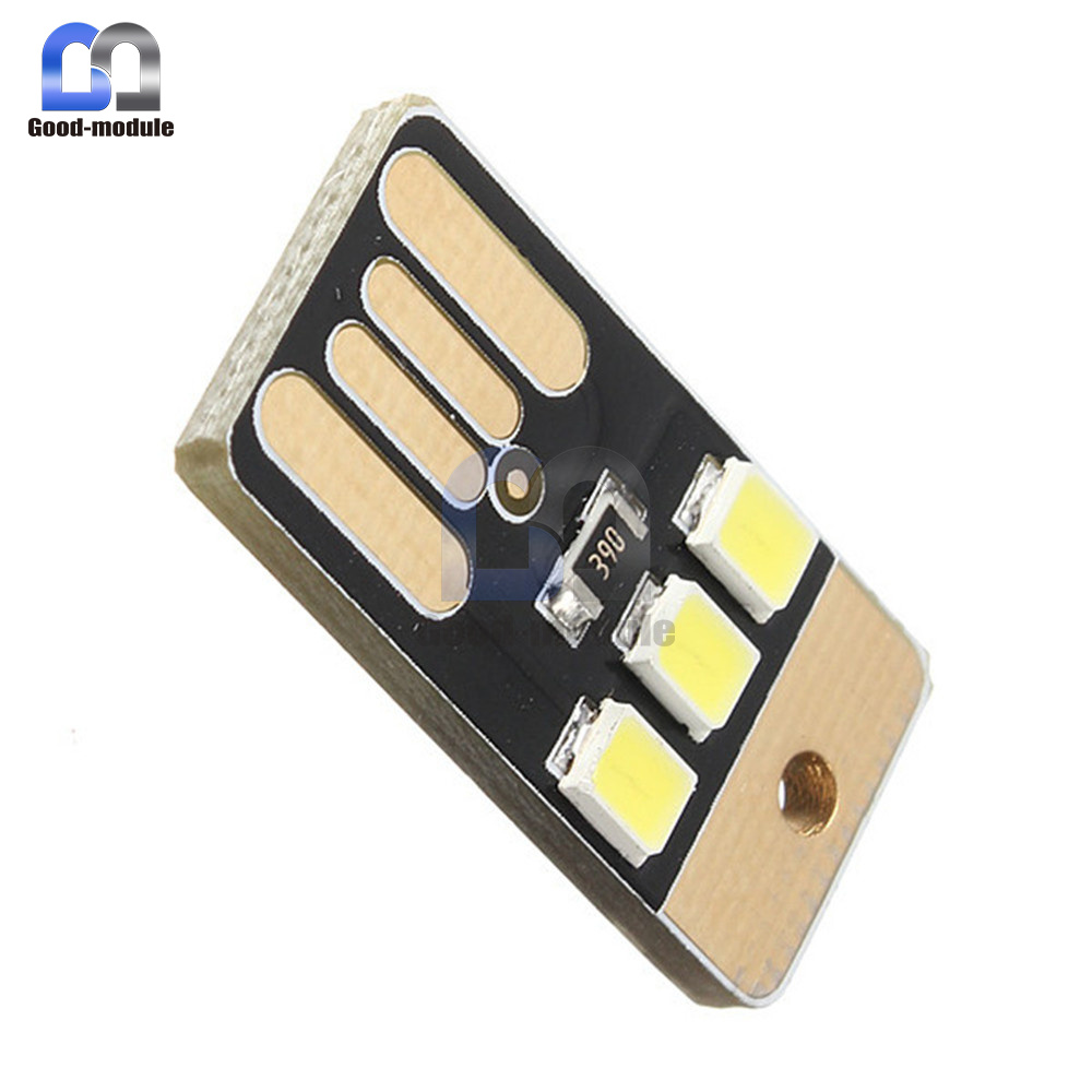 10pcs Card Lamp Bulb Led Keychain Mini White Led Night Light Portable Usb Power Electronic Components & Supplies