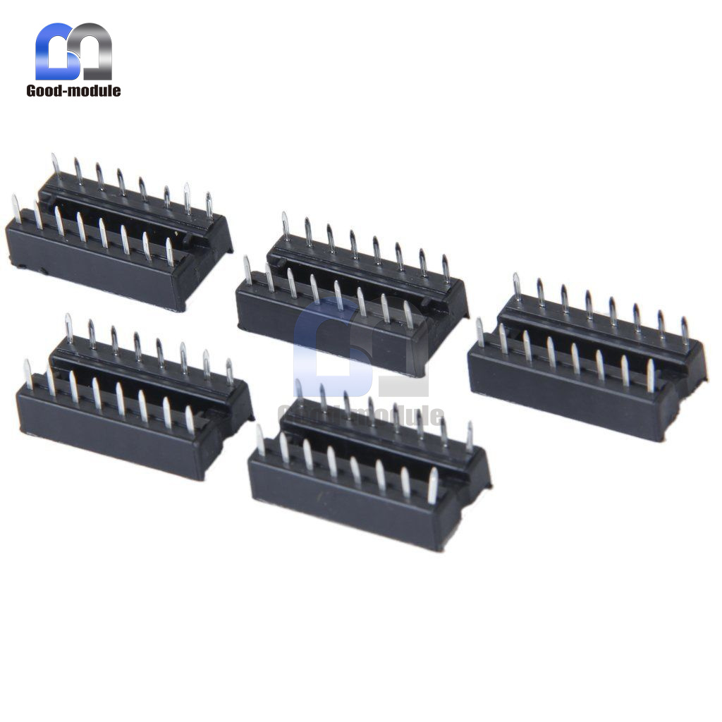 10Stks 16pin DIP IC Socket Adaptor Solder Type Socket Pitch Dual Wipe Contact