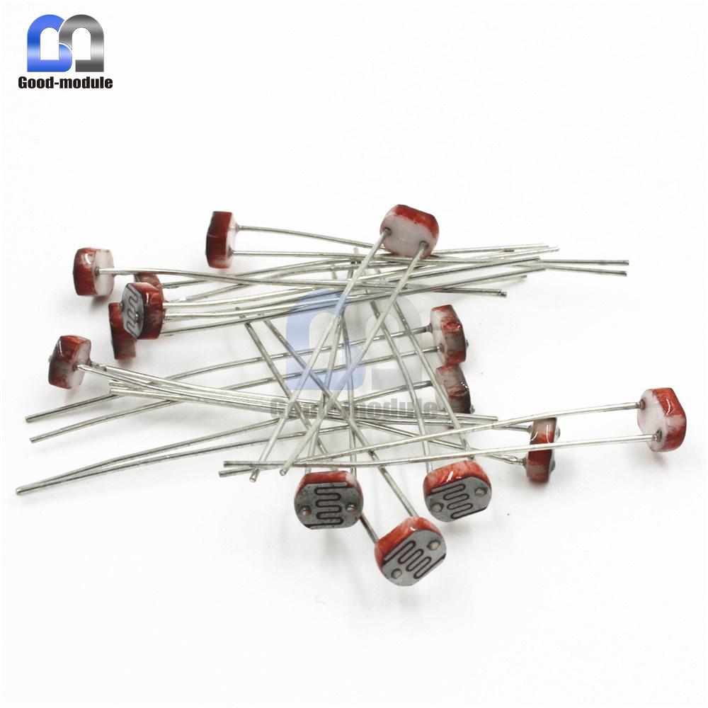 Details About 20pcs Photoresistor Ldr Cds 5mm Light Dependent Resistor Sensor Gl5516 Arduino Symbol The Circuit
