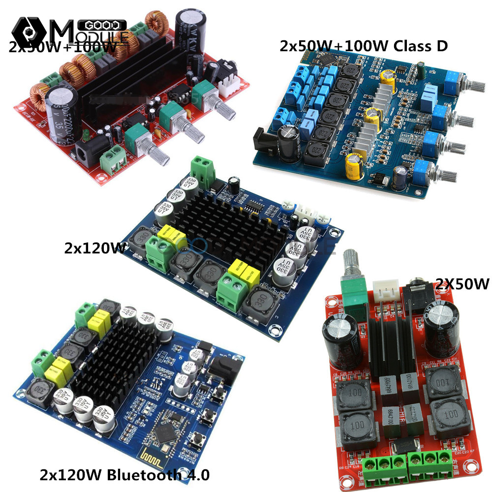 TPA3116D2 100//200//240W Subwoofer Stereo Audio Power Amplifier Board Blue//Red