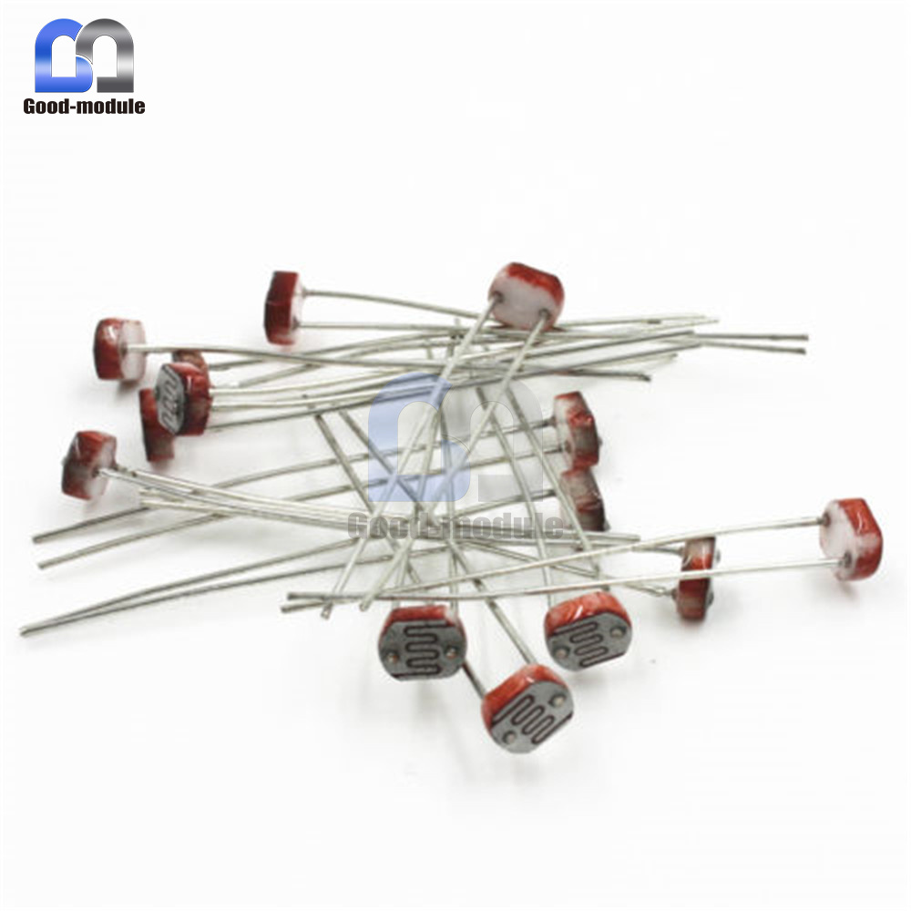 20pcs Photoresistor Ldr Cds 5mm Light Dependent Resistor Sensor Circuit Gl5516 Arduino
