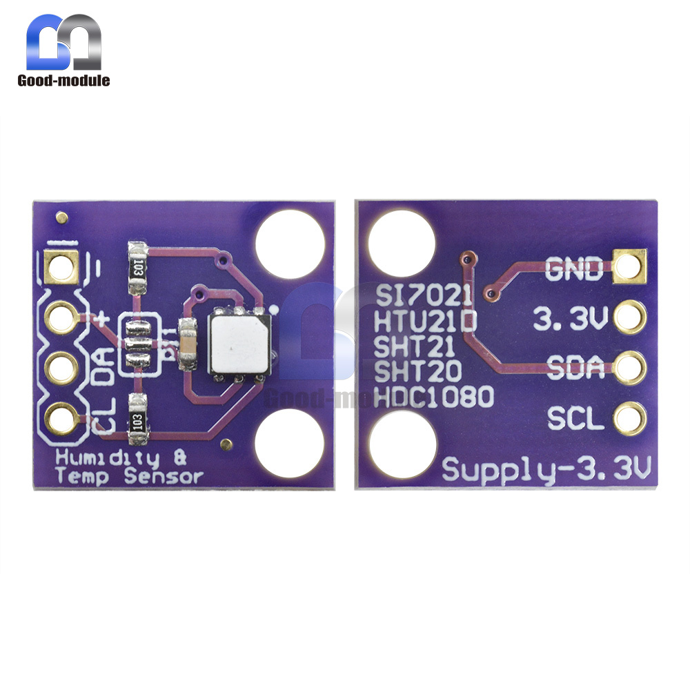 I2C Interface Si7021 Industrial High Precision Humidity Sensor 1.9 to 3.6 V