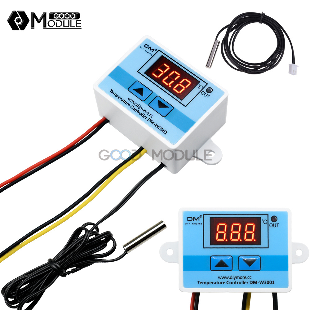 Digital 220V LED W3001 Temperature Controller Thermostat Switch Probe Cable