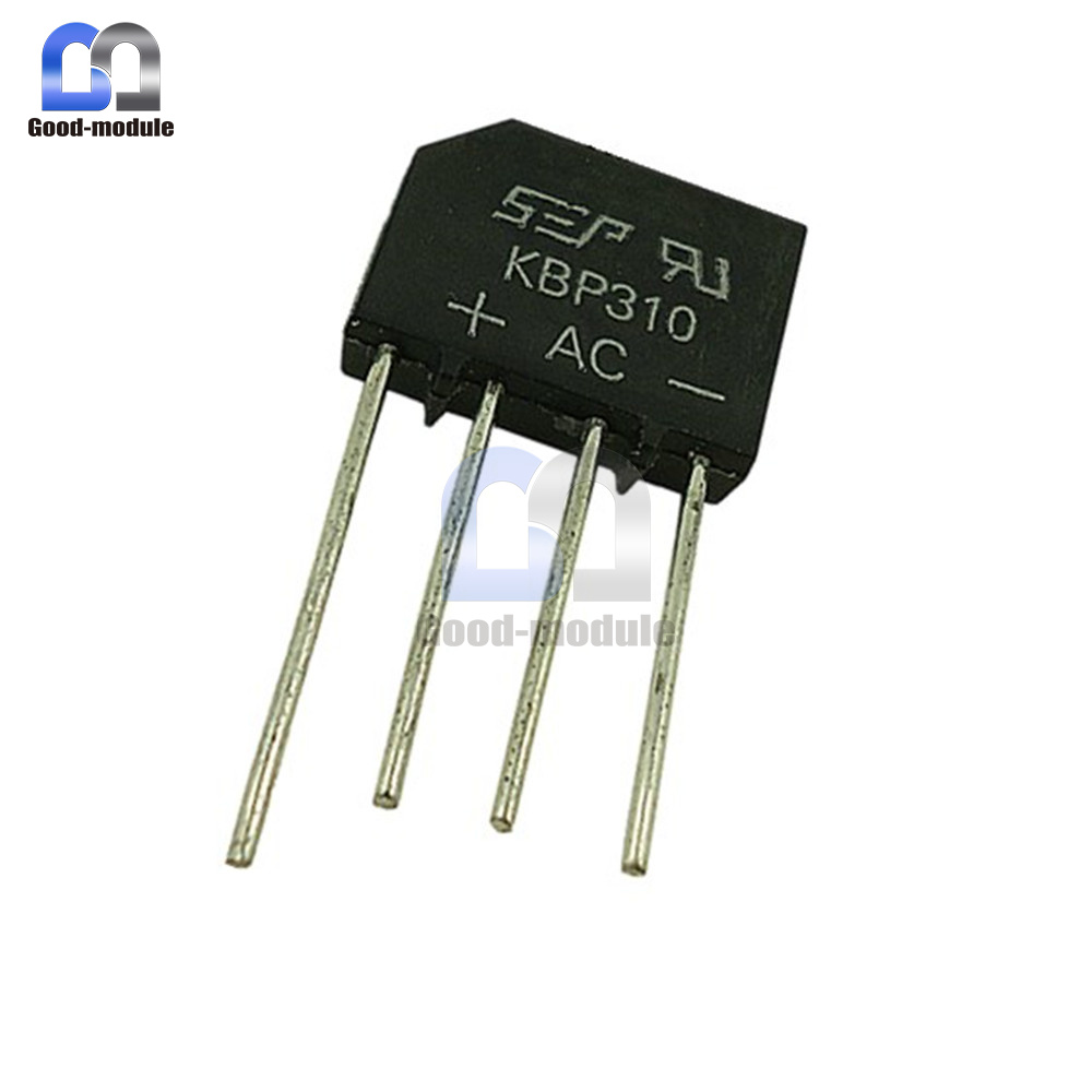 100pcs 3A 1000V KBP310 replace RS310 SEP BRIDGE RECTIFIER