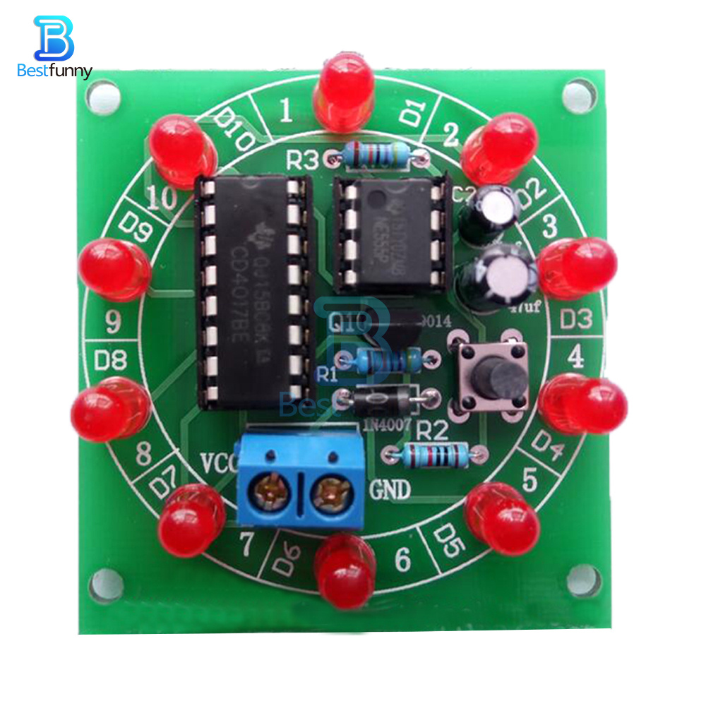5PCS Electronic Lucky Rotary Suite DIY Kits Production Parts And Components