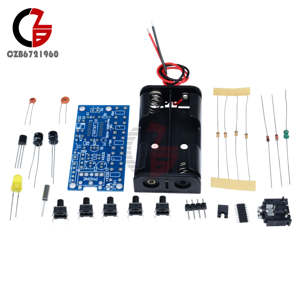 Wireless Stereo Fm Radio Receiver Module Pcb Diy Electronic Kits Integrated Circuit Station Transmitter Board 1 Suite Variety Of Components A Plurality Resistors Capacitors Inductors Diodes Circuits