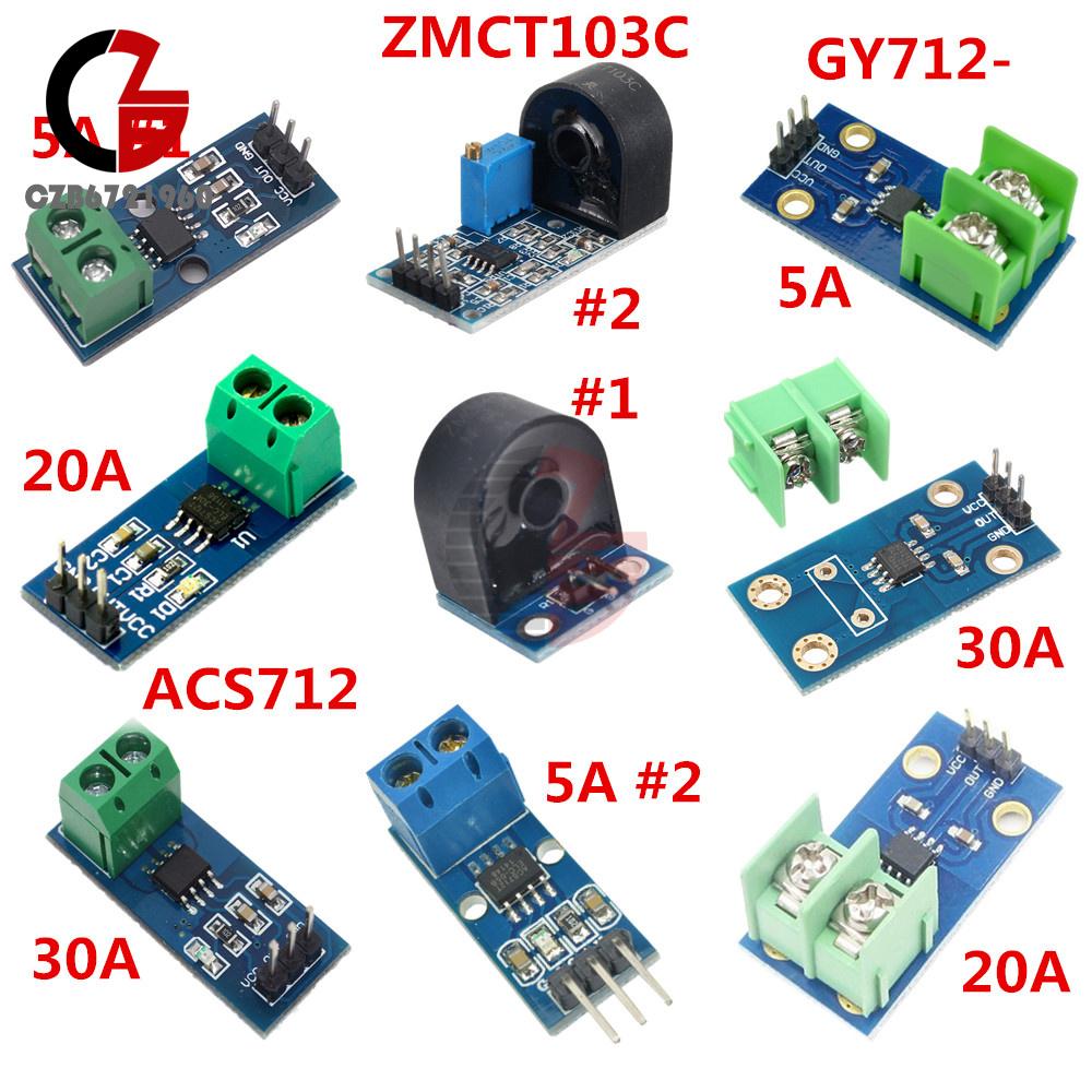 New GY-712 20A range Current Sensor Module ACS712 Module Arduino Module ACS712T