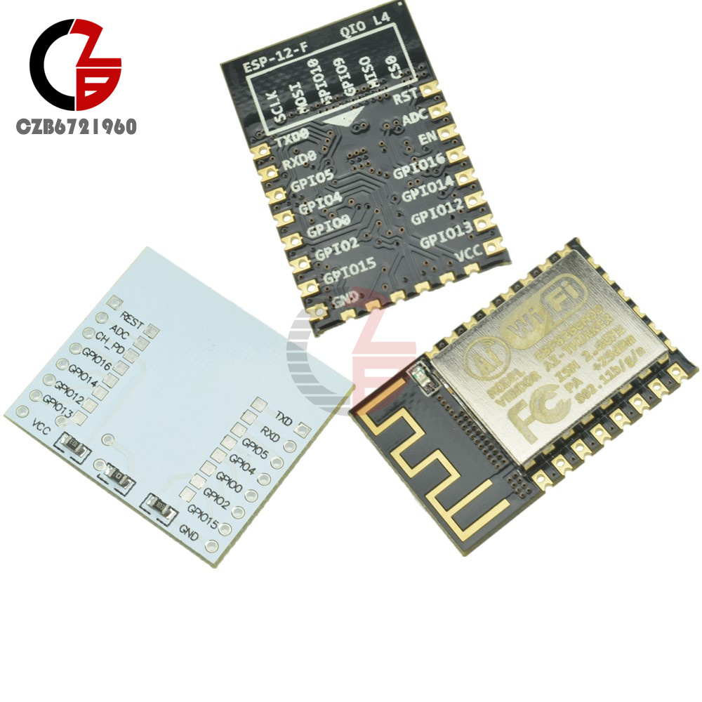 Details about ESP8266 ESP-12F Remote Serial WIFI Transceiver Wireless  Module Adapter Plate