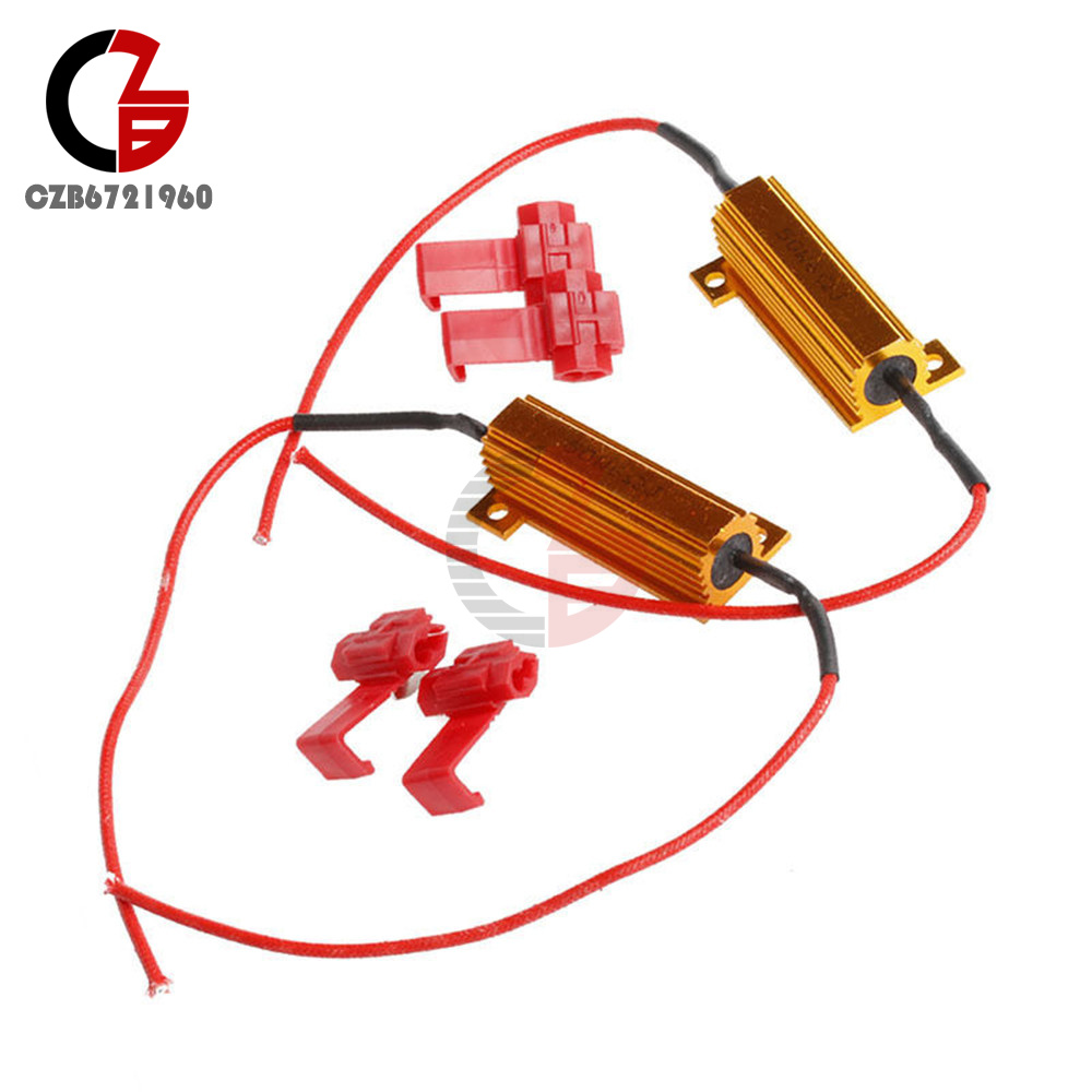 LED Load Resistor Warning Decoder 5W-50W With Two Cancellers Foir 12V Cars AS