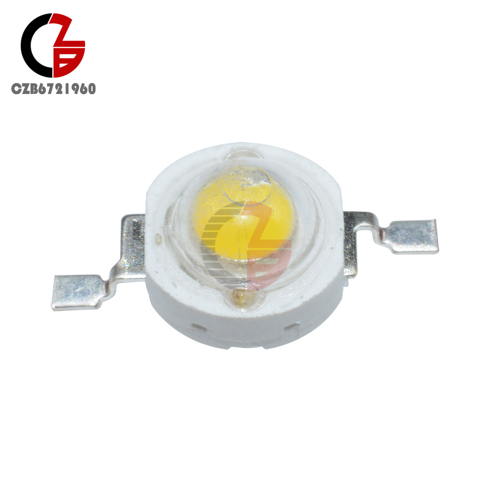 50PCS 1W Led Chip High Power LED Beads 100-110LM Pure White