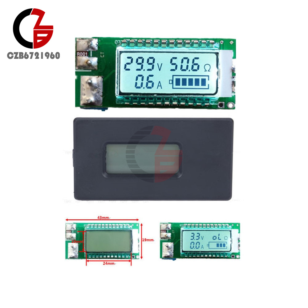 18650 26650 Digital Li-ion Battery Tester Meter Voltage//Amp//Ohm//Capacity A2TS