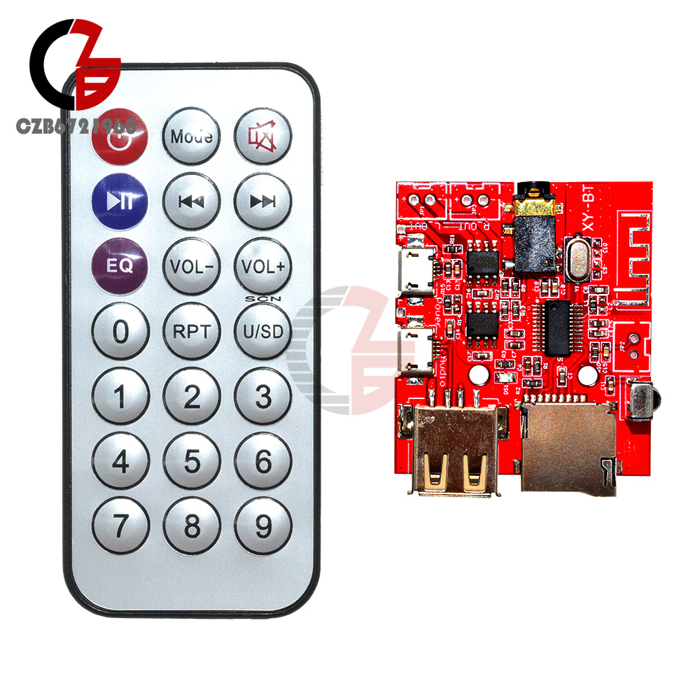 3.0//4.0//4.1 Bluetooth MP3 Decoding Board Car Speaker Refit With Remote Control