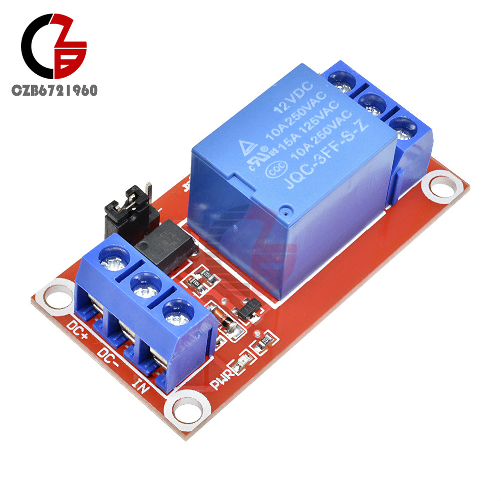 12V 1 Channel Relay Module With OPTO Isolation High Low Level Trigger