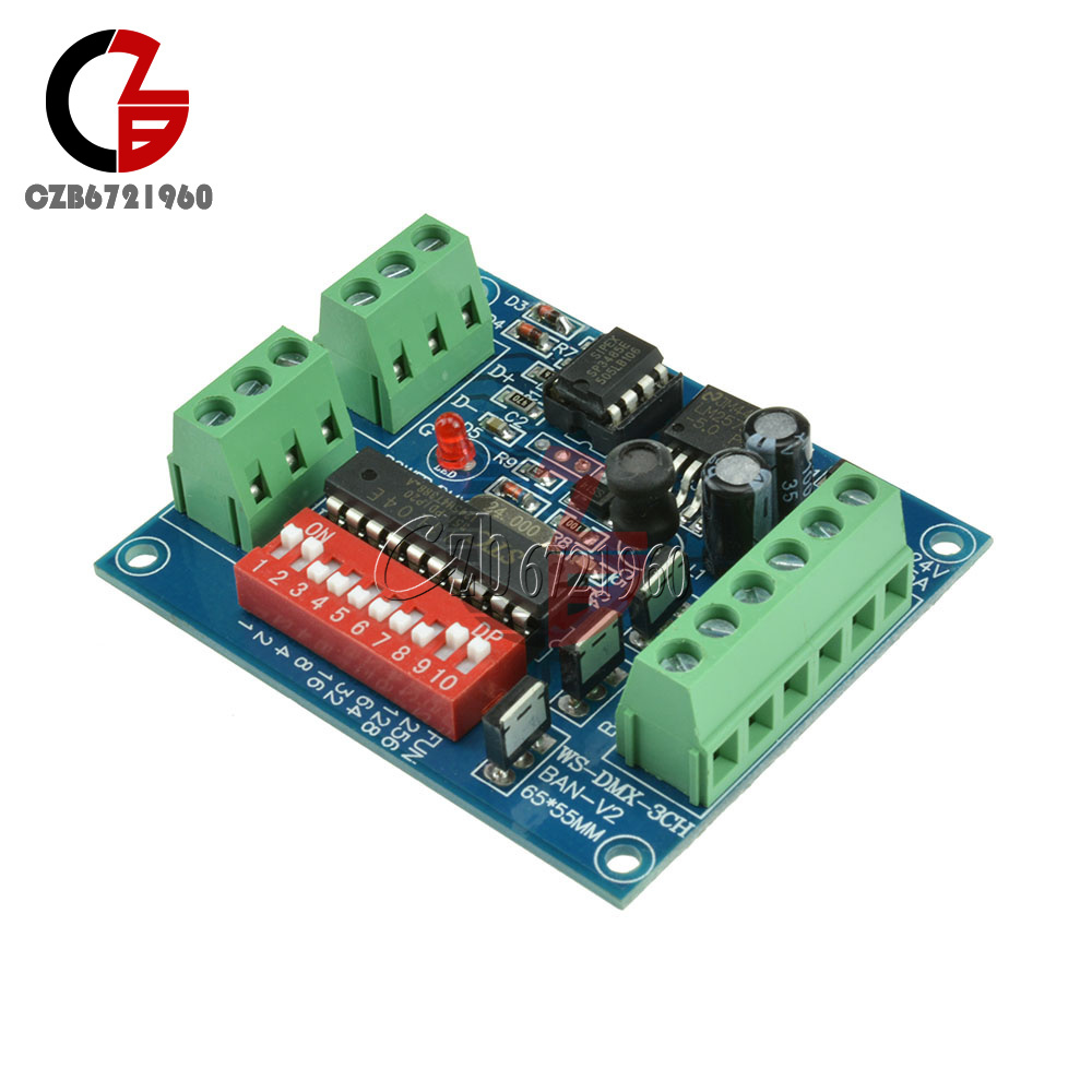 18-72-144W-300mA-6-12A-3-Channel-DMX512-Decoder-LED-RGB-Stage-Lighting-Driver thumbnail 28