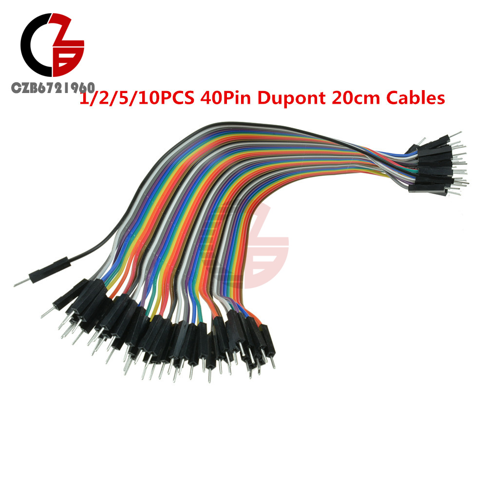 1//2//5//10PCS 65pcs Male to Male Flexible Solderless Breadboard Jumper Wires Cable