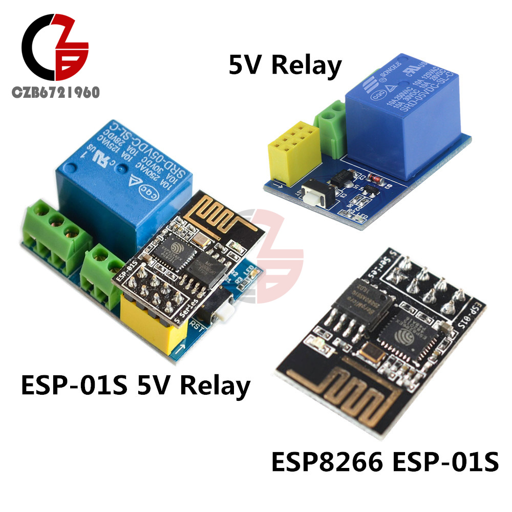 5V Wifi Relay Module ESP8266 ESP-01S Board for Smart Home DIY TOI APP Controller