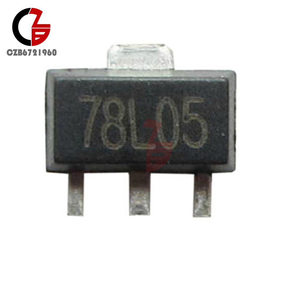 20PCS 78L05 L78L05 7805 Voltage Regulator 5V 100mA SOT-89 SMD TOCA