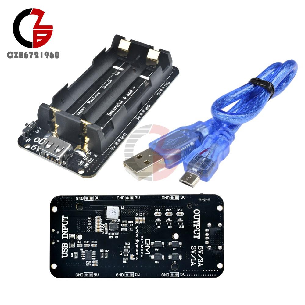 3V//5V Dual Battery Shield V8 Mobile Power Bank Board For Wifi ESP32 ESP8266