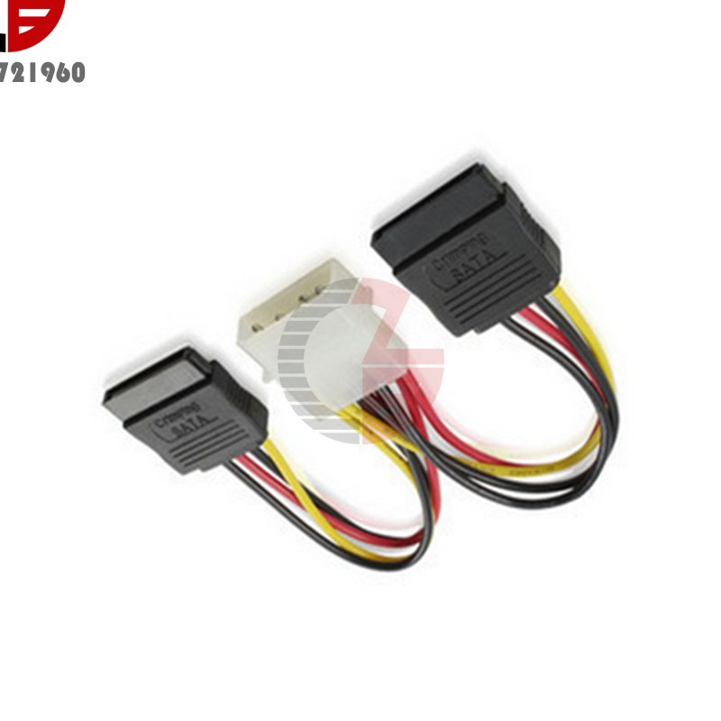 ATX 4-Pin IDE Molex To 5 Serial ATA SATA Power Supply Adapter Cable 18AWG Wire