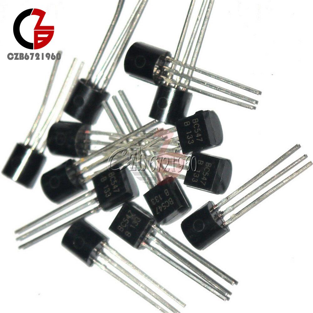200Pcs BC547 TO-92 NPN 45V 0.1A Transistor High quality