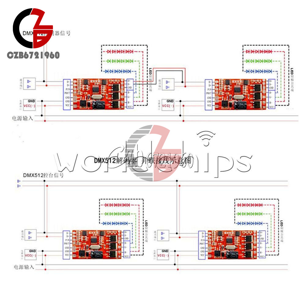 18-72-144W-300mA-6-12A-3-Channel-DMX512-Decoder-LED-RGB-Stage-Lighting-Driver thumbnail 25