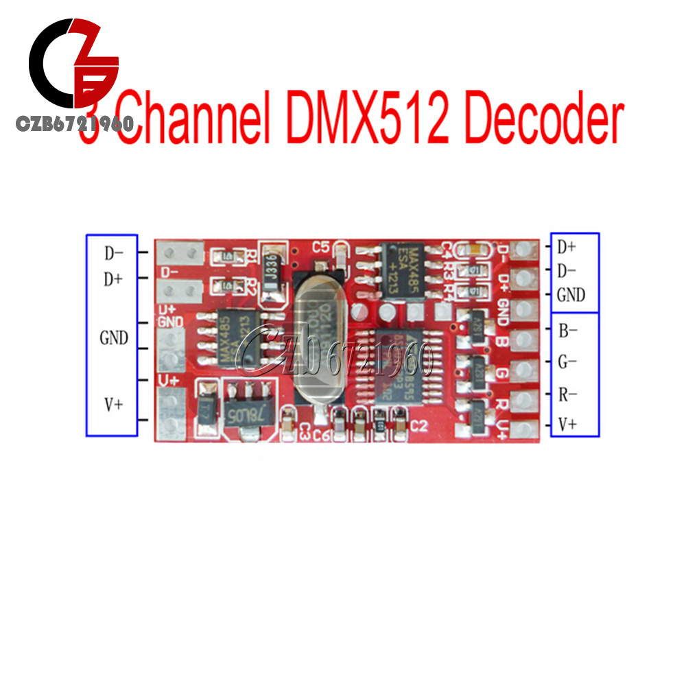 18-72-144W-300mA-6-12A-3-Channel-DMX512-Decoder-LED-RGB-Stage-Lighting-Driver thumbnail 17