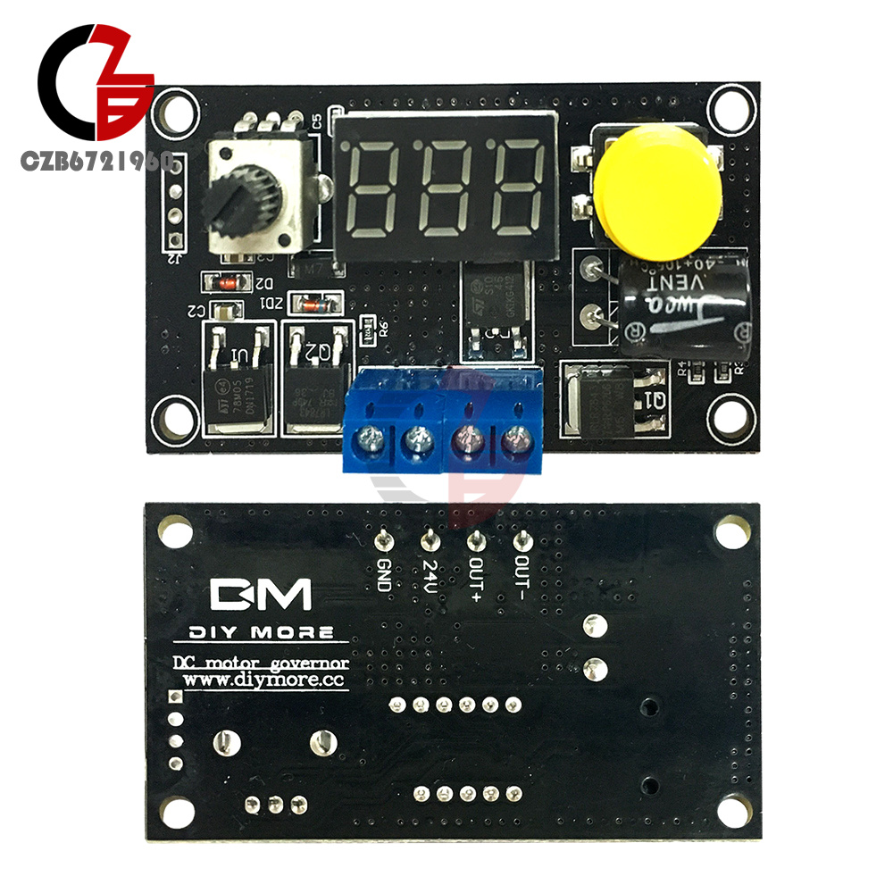 DC6-30V 12V 24V 8A 16kHz CCM5D PWM Motor Digital Drehzahlregler Speed Controller