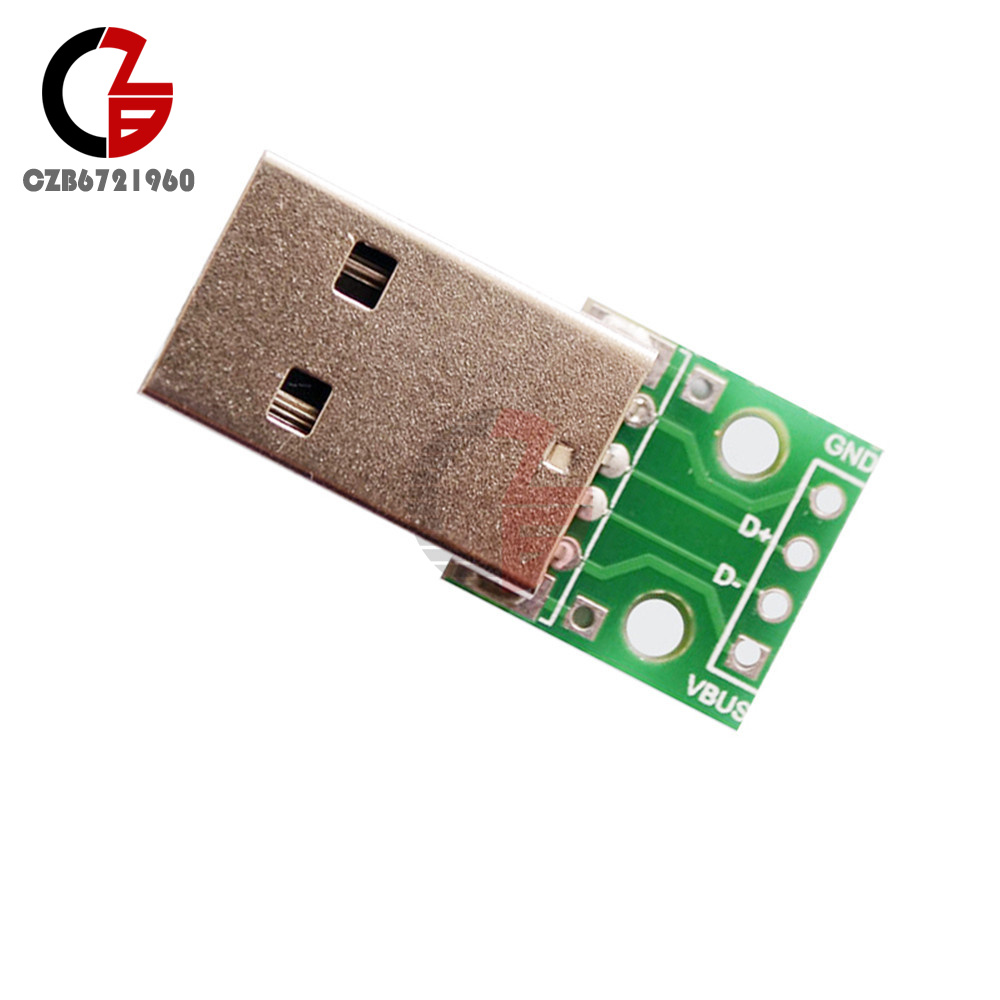 5pcs USB 2.0 Female Connetor to 4pin 2.54mm DIP Power supply Adapter Board